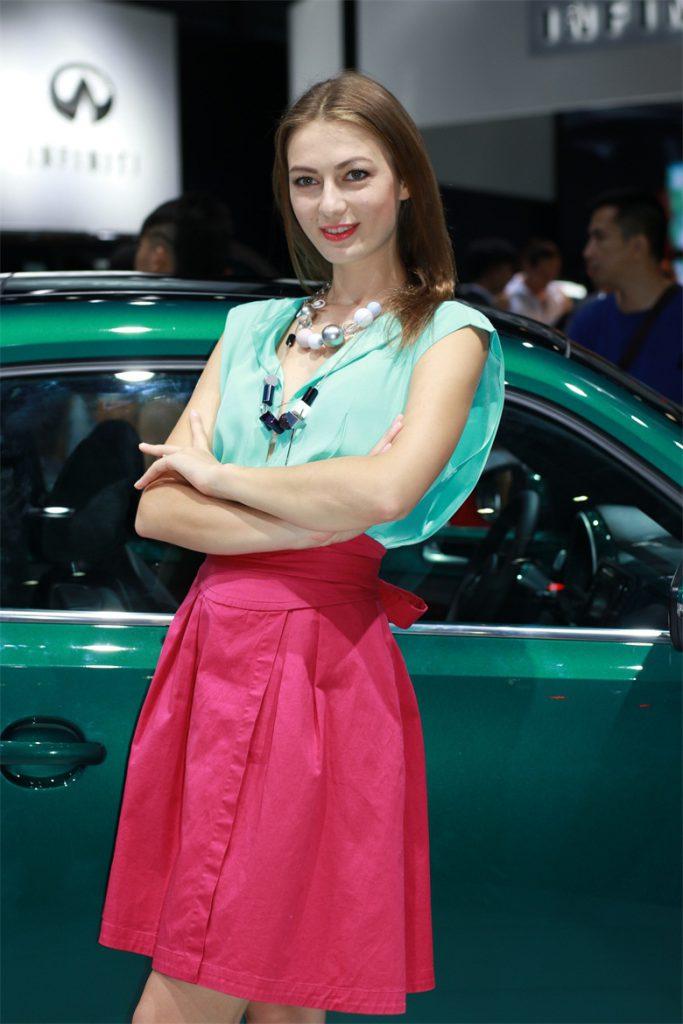 车展外国模特