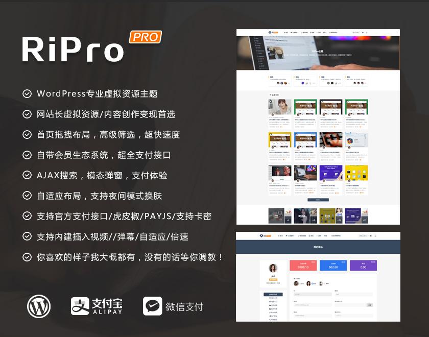 WordPress日主题RiPro6.6最新破解版全网独家首发